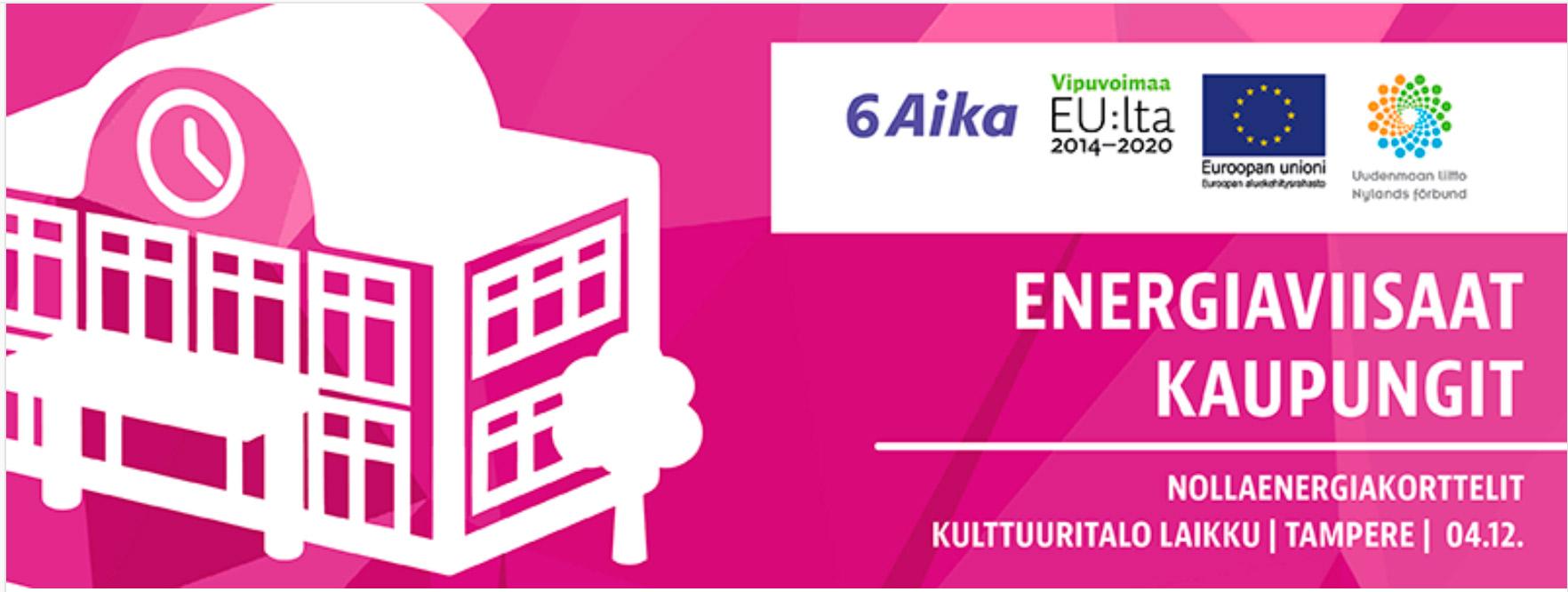 Cover for article 'Nollaenergiakorttelit-markkinakartoitustilaisuus Tampereella'