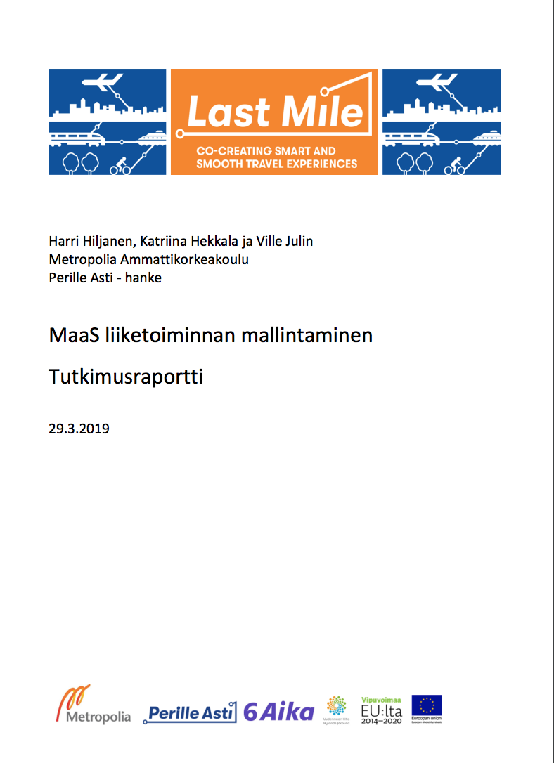 Cover for article 'Maas-liiketoiminnan mallintaminen'