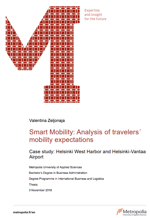 Cover for article 'Smart Mobility: Analysis of Traveler's Mobility Expectations'