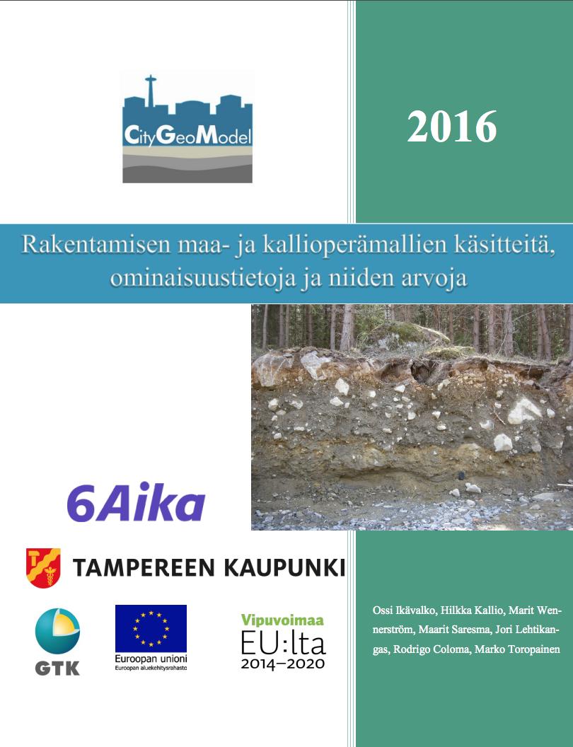 Cover for article 'Rakentamisen maa- ja kallioperämallien käsitteitä, ominaisuustietoja ja niiden arvoja'
