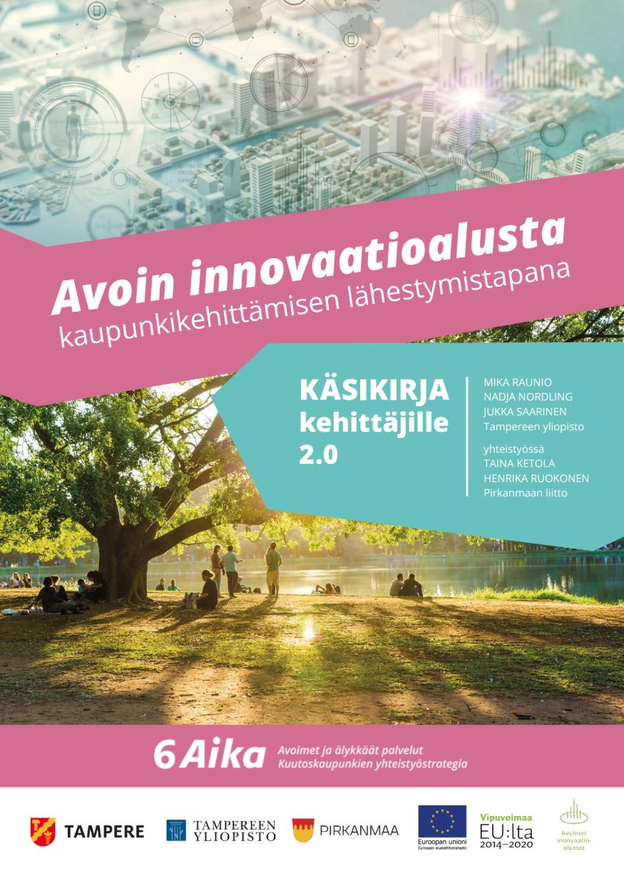 Cover for article 'Avoin innovaatioalusta -käsikirja kehittäjille'