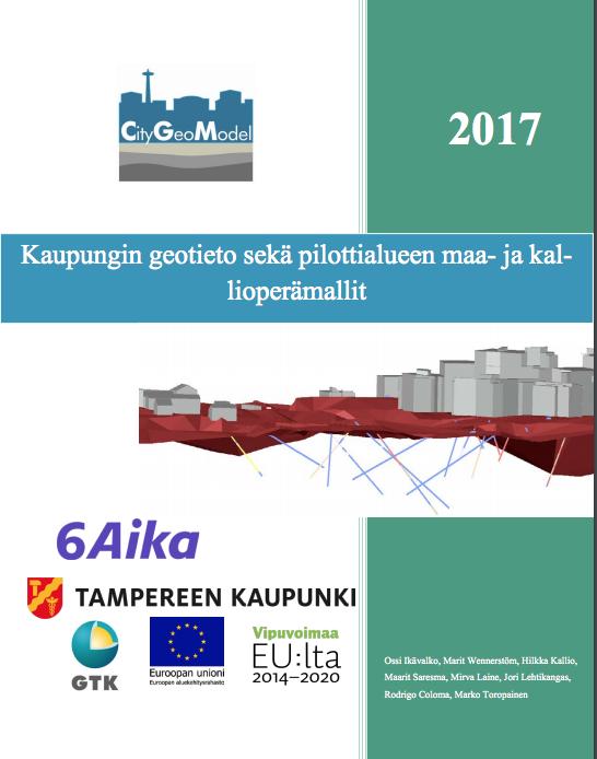Cover for article 'Kaupungin geotieto sekä pilottialueen maa- ja kallioperämallit'
