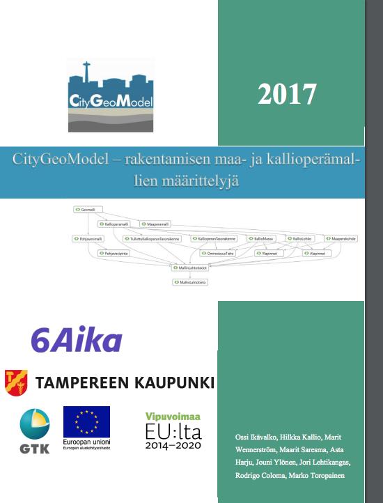 Cover for article 'CityGeoModel – rakentamisen maa- ja kallioperämallien määrittelyjä'