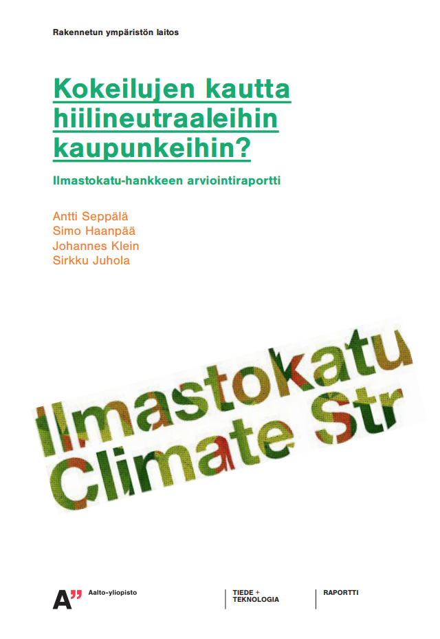 Cover for article 'Kokeilujen kautta hiilineutraaleihin kaupunkeihin?'