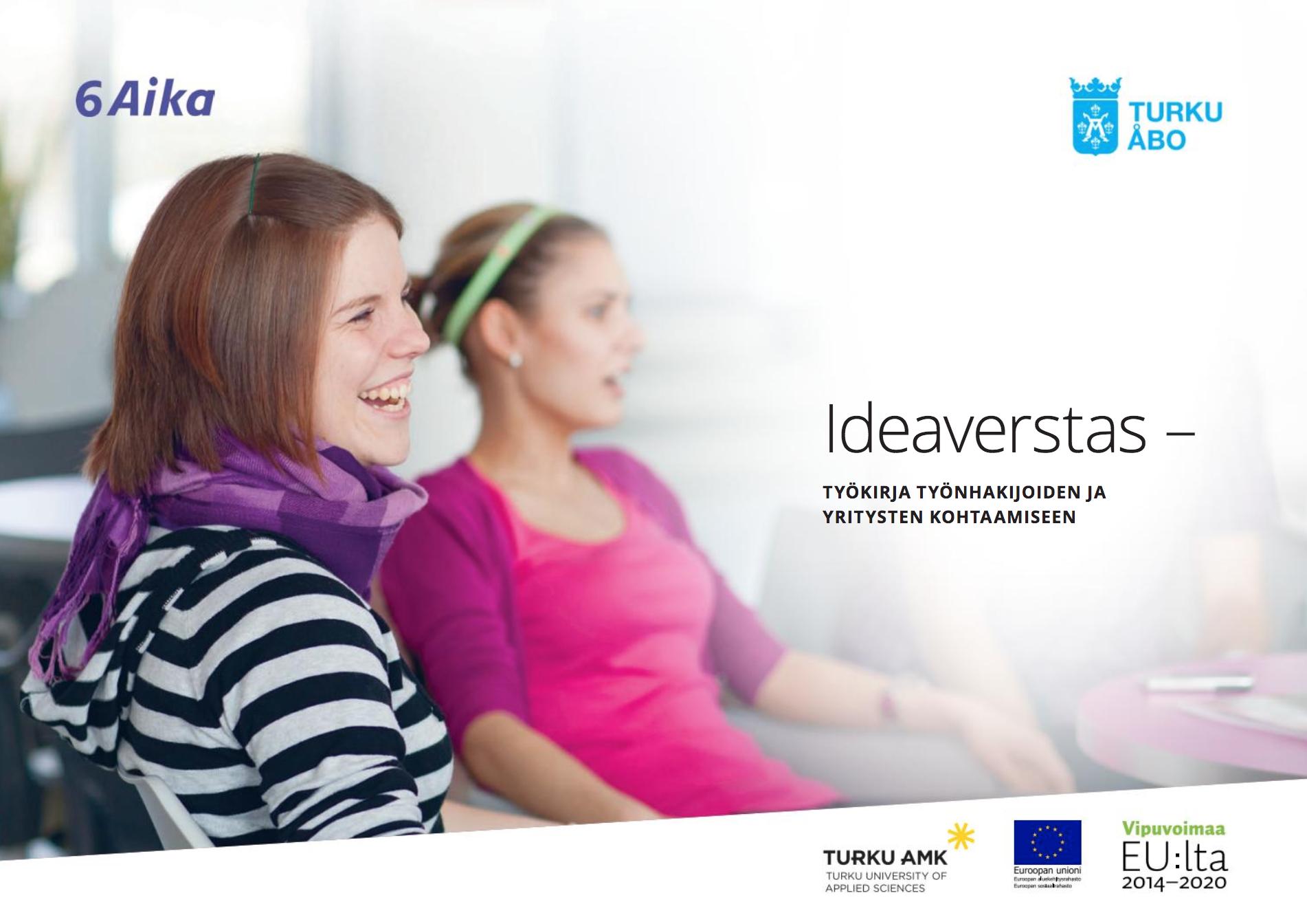 Cover for article 'Ideaverstas – Työkirja työnhakijoiden ja yritysten kohtaamiseen'