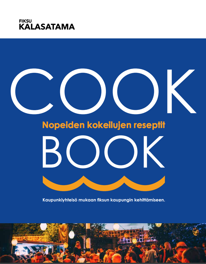 Cover for article 'Nopeiden kokeilujen cookbook'