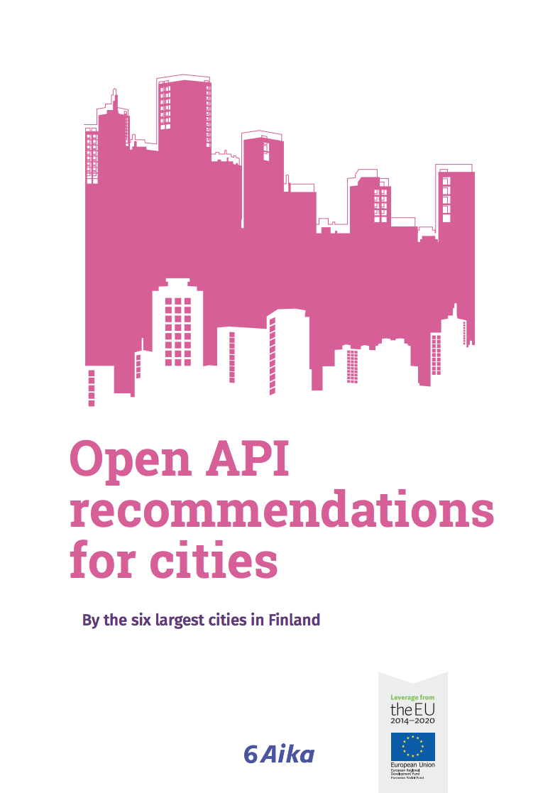 Cover for article 'Open API recommendations for cities'