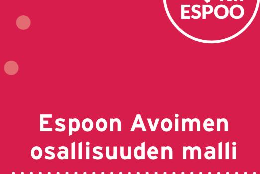 Cover for article 'Espoon avoimen osallisuuden malli'