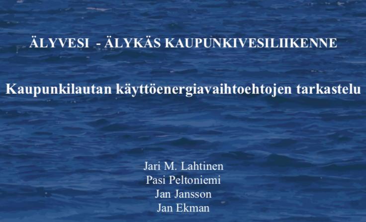 Cover for article 'Kaupunkilautan käyttöenergia-vaihtoehtojen tarkastelu'