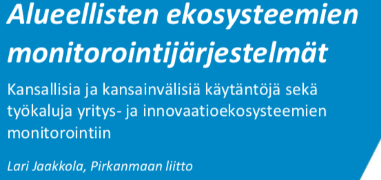 Cover for article 'Kasvun ekosysteemit benchmark'