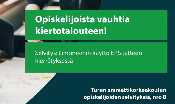 Cover for article 'Selvitys limoneenin käytöstä EPS-jätteen kierrätyksessä'