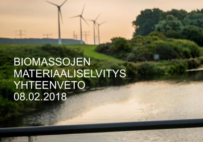 Cover for article 'Biomassaselvitys Tampereen seudulla'