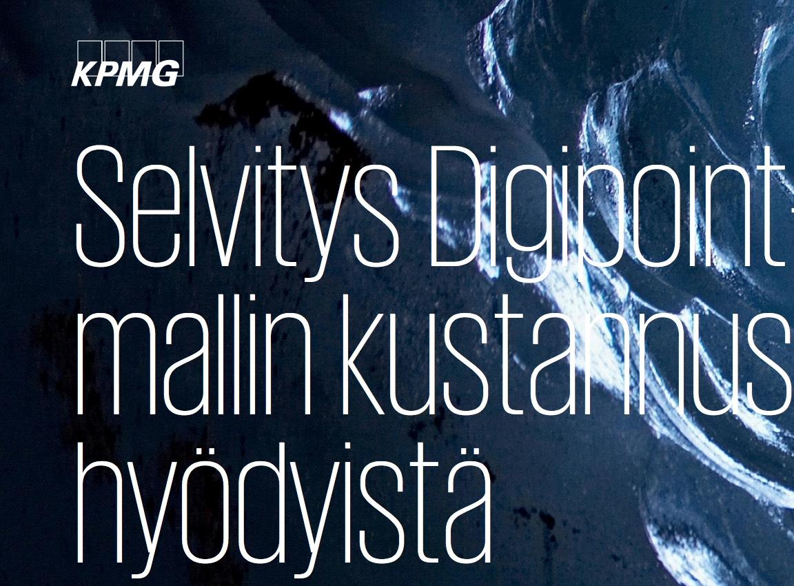 Cover for article 'Selvitys Digipoint-mallin kustannushyödyistä'