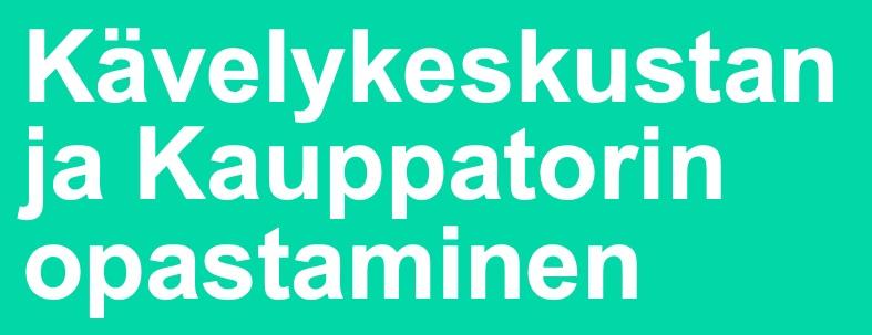 Cover for article 'Kävelykeskustan ja Kauppatorin opastaminen'