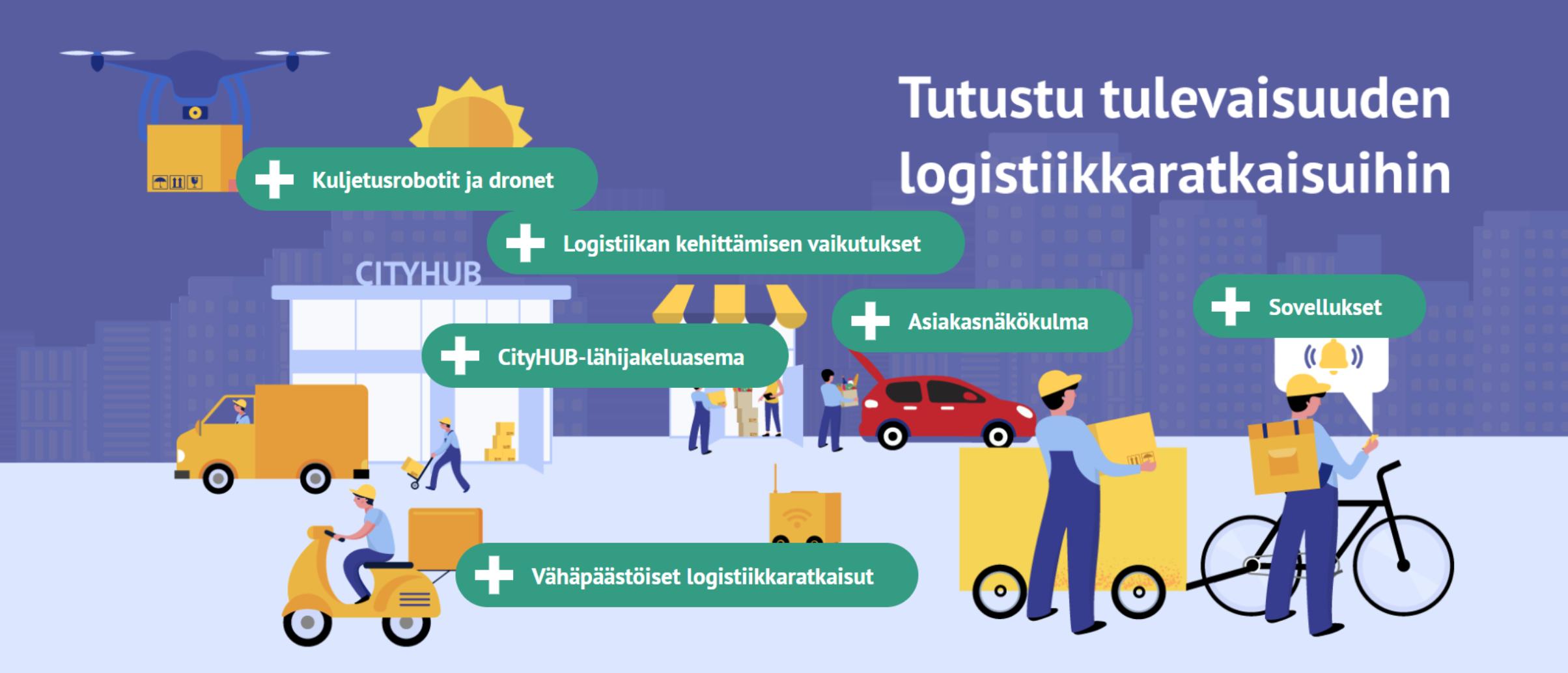 Cover for article 'Citylogistiikan uudet ratkaisut -webinaari'