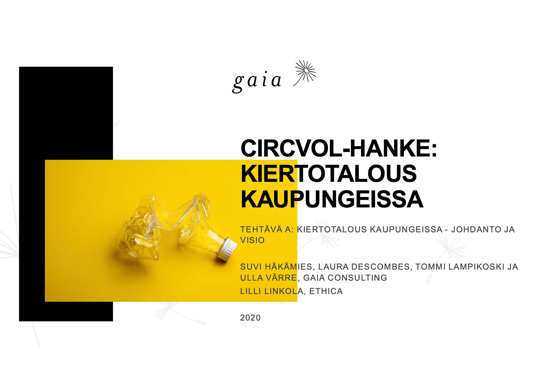 Cover for article 'Helsinki: Kiertotalous kaupunkisuunnittelussa'