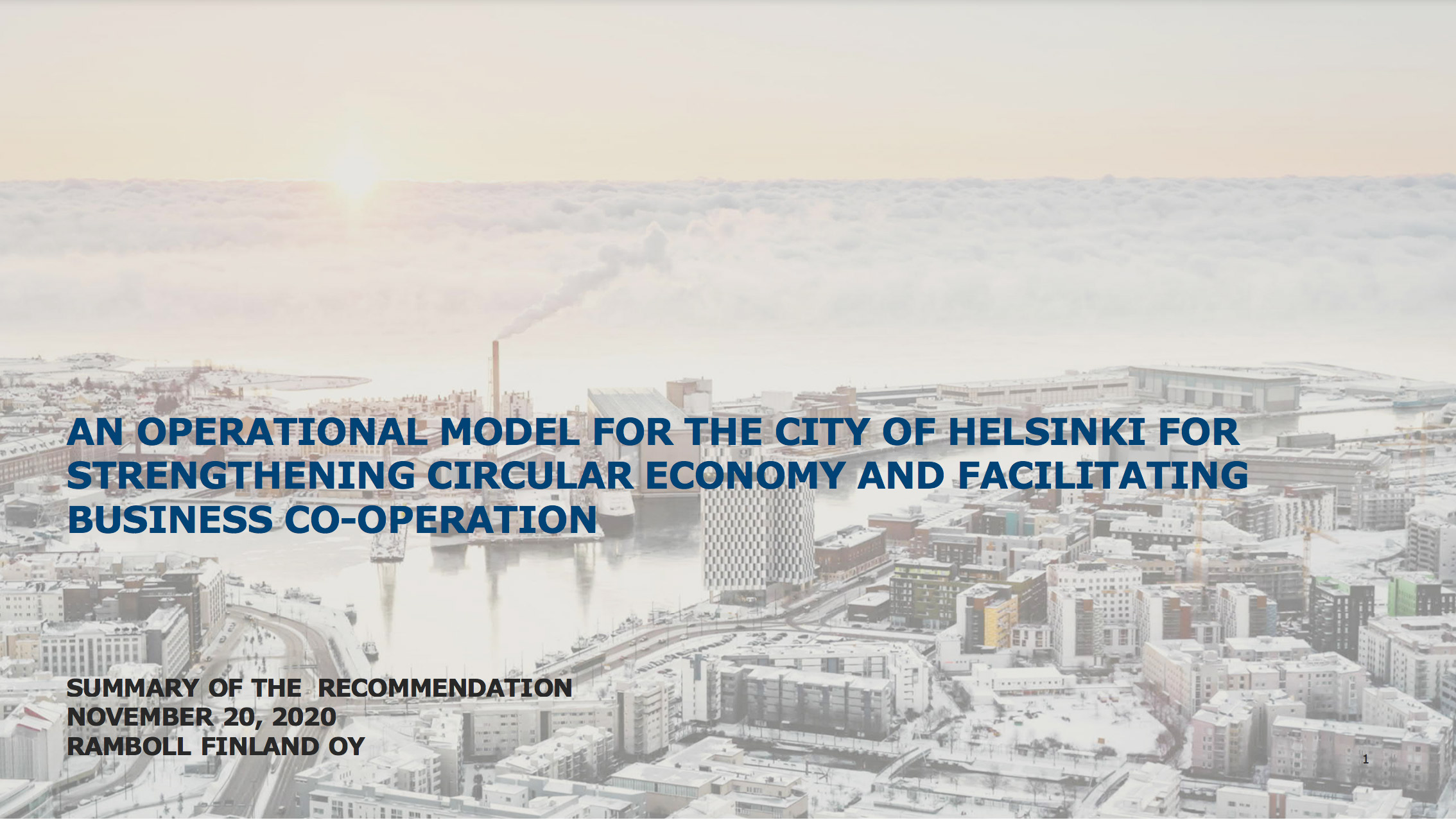 Cover for article 'An Operational Model for the City of Helsinki for Strengthening Circular Economy'