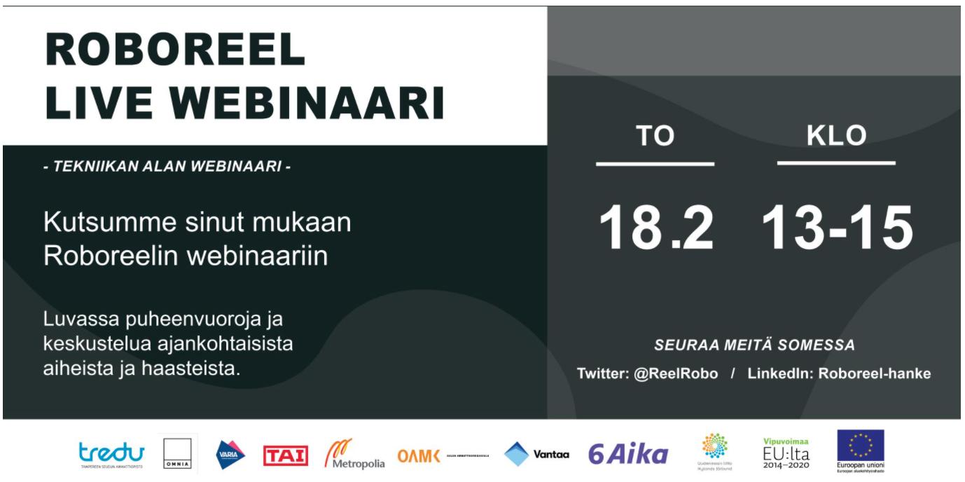 Cover for article 'Roboreel – Tekniikan alan webinaari'