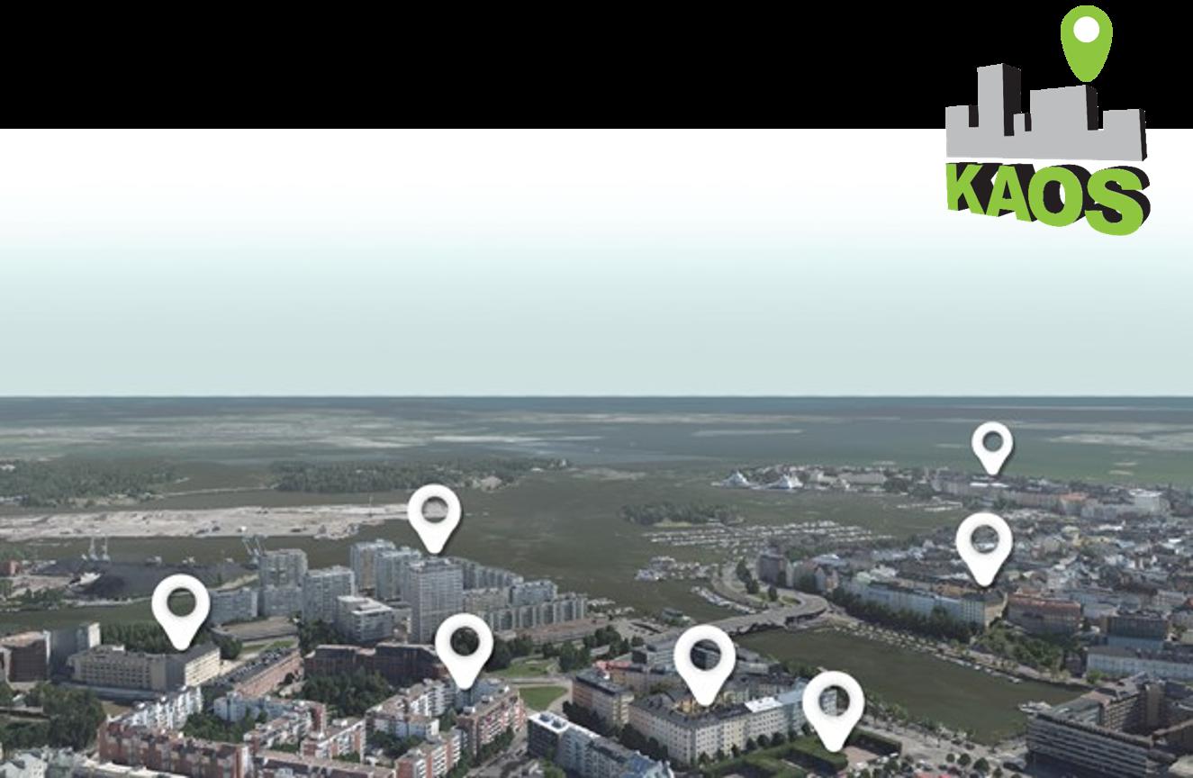 Cover for article 'KAOS – Työpaja digitaalisten 3D-kaupunkimallien kestävän kehityksen sovelluksista'
