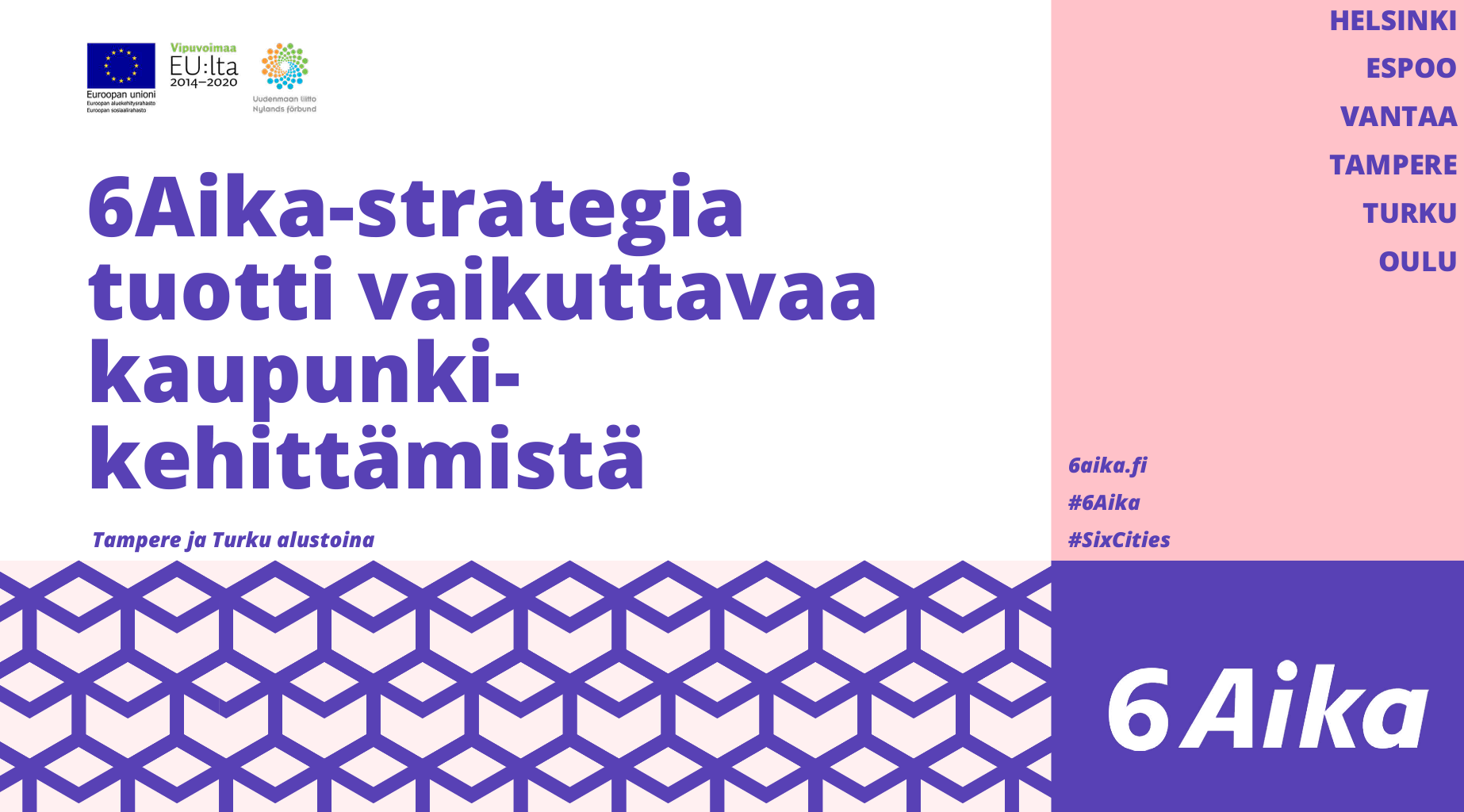 Cover for article '6Aika-strategia tuotti vaikuttavaa kaupunki-kehittämistä – Tampere ja Turku innovaatioalustoina'