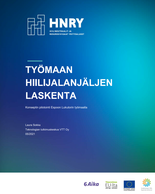 Cover for article 'Työmaan hiilijalanjäljen laskenta'