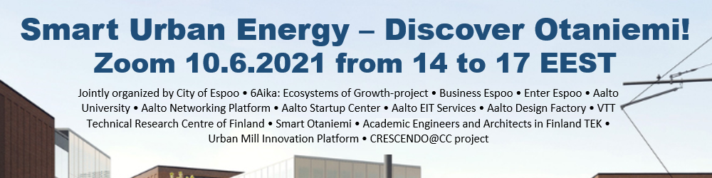 Cover for article 'Ecosystems of Growth – Smart Urban Energy, Discover Otaniemi'