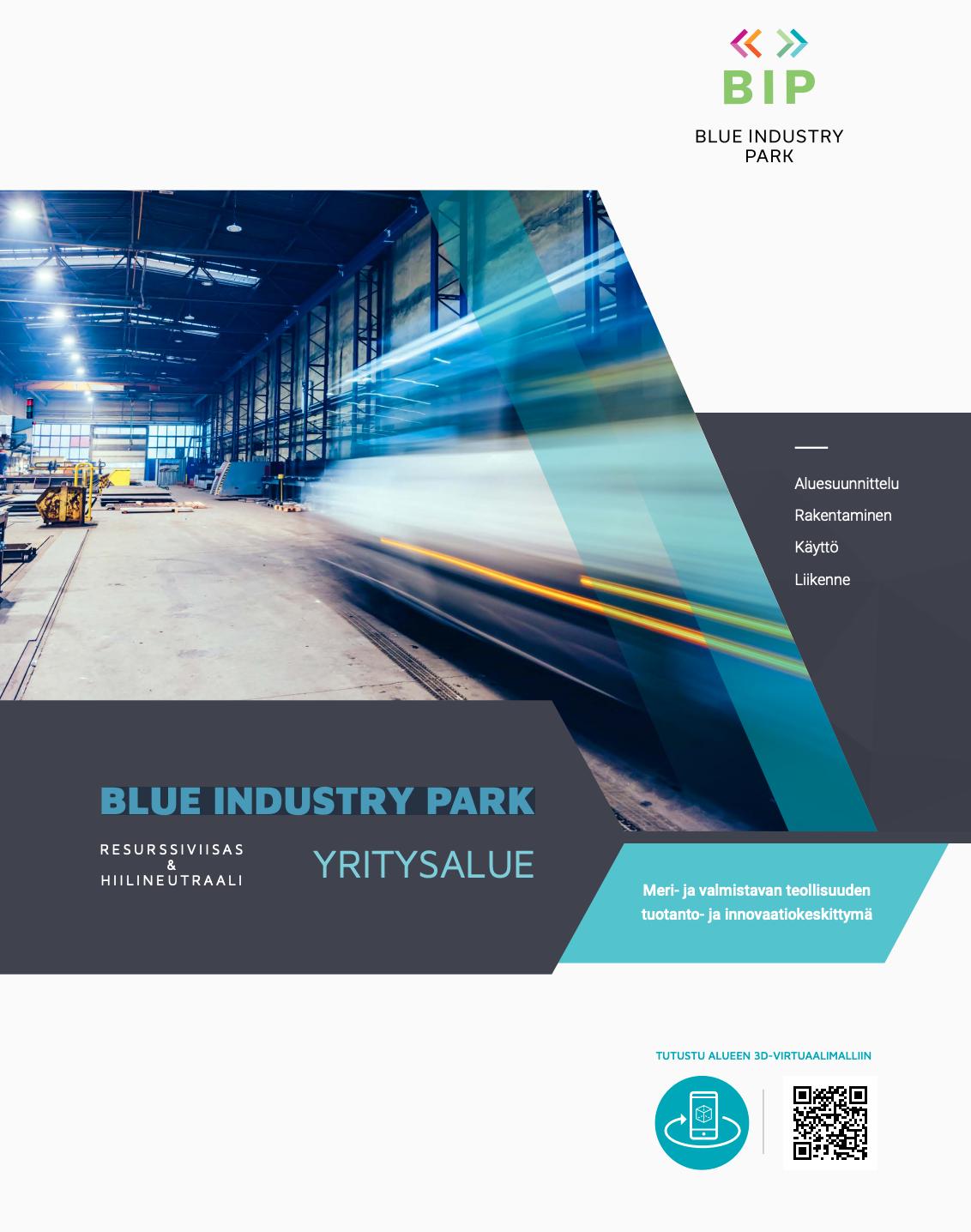 Cover for article 'Opas: Blue Industry Park – Resurssiviisas ja hiilineutraali yritysalue'